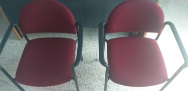 Burgundy Office Chairs (pair)
