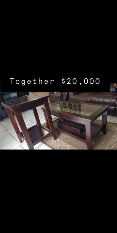 Twin Bed With Mattress, Coffee Table, Side Table