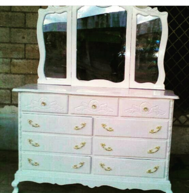 Beautiful White Dresser For Sale