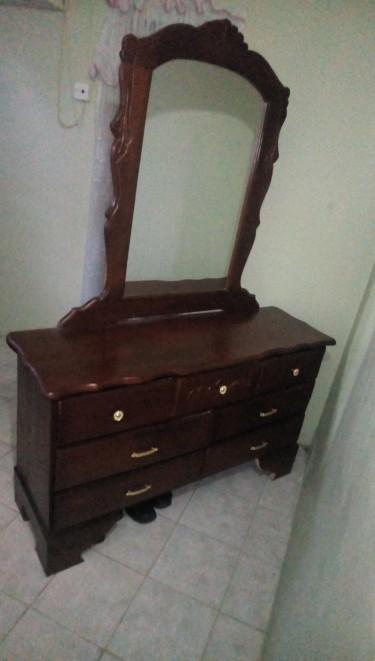 Lovely Seven Drawer Dresser For Sale.