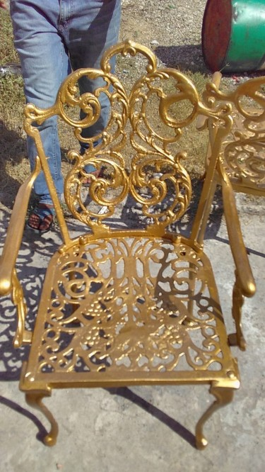 Beautiful Cast Iron Outdoor Chairs For Sale