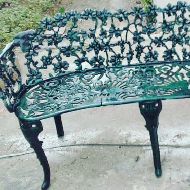 Beautiful Cast Iron Bench For Sale