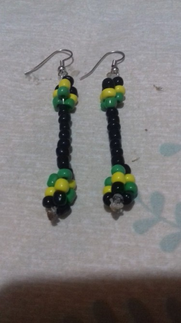 Beads Earings In Jamaica  Colours