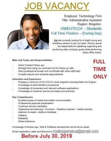 Email Us Only (Administrative Assistant Needed)