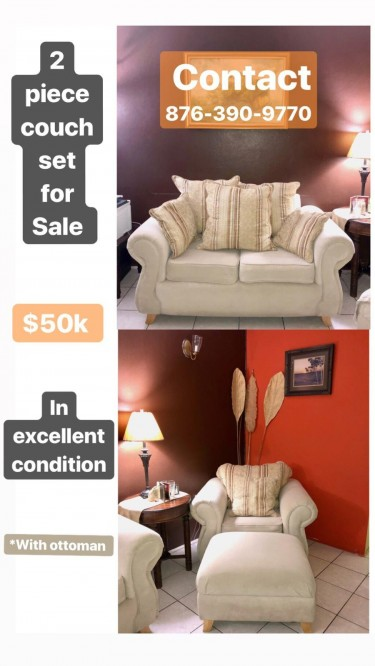 2 Piece Sofa Set In Excellent Condition Furniture Kingston 8