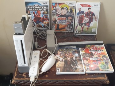 Nintendo Wii With Games-negotiable