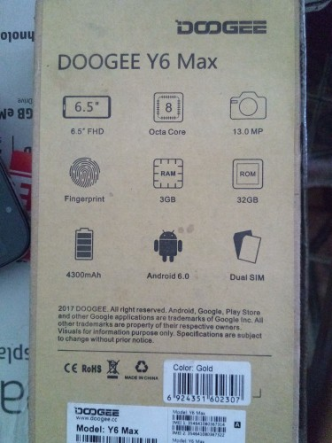 Doogee Y6 Max Unlocked