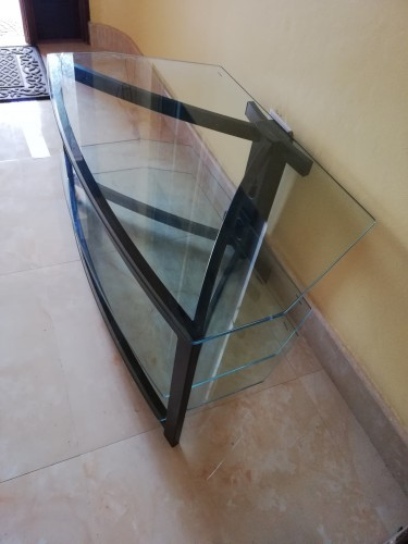 Metal And Glass Entertainment Stand