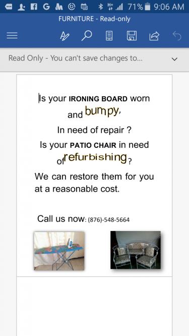 Bring In Your Iron Boards For Repair