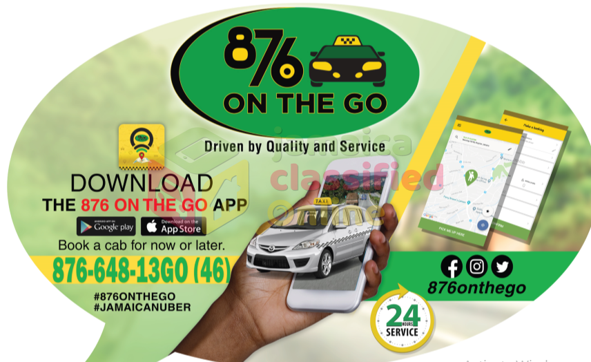 876 OnTheGo #Jamaican Uber# The Best Taxi Service for sale in 237