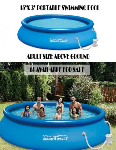 15\\\'WIDE X 3\\\' DEEP PORTABLE POOL FOR SALE
