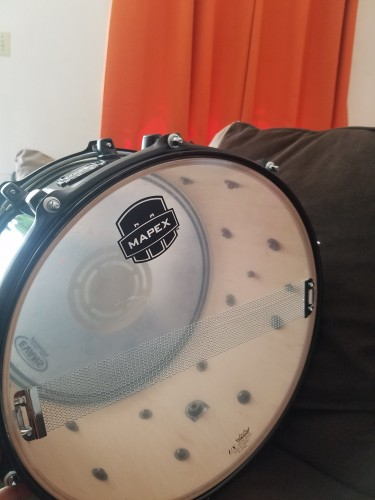 8x14 Mapex Snare Drum And Bag.
