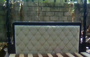 Beautiful 2 Poster Padded Headboard For Sale