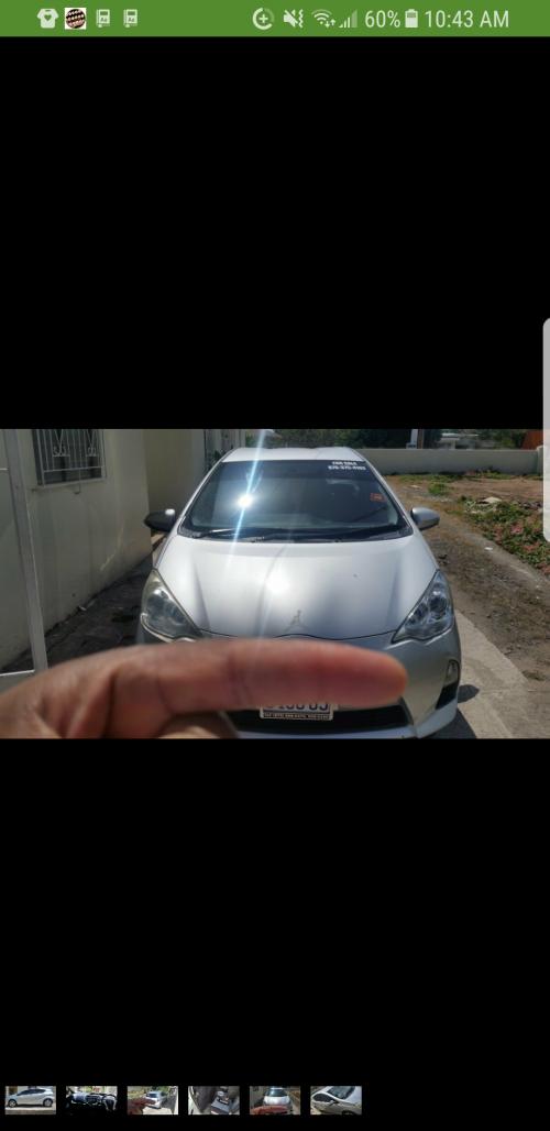 2012 Toyota Aqua Silver Hybrid