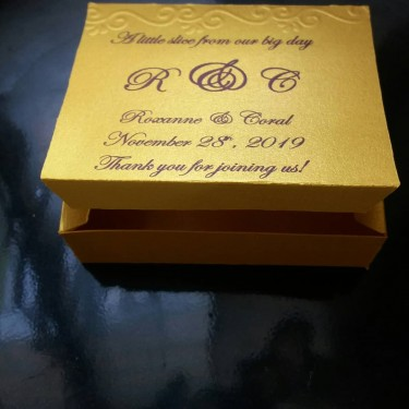 Cake Boxes And Invitations