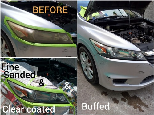 Vehicle Head Lamp Restoration Service