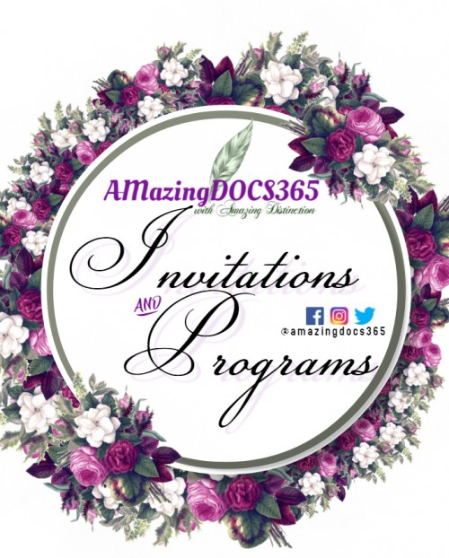 Invites And Programs
