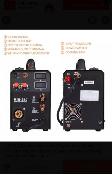 3 In 1 Welding Plant  250amp  220v