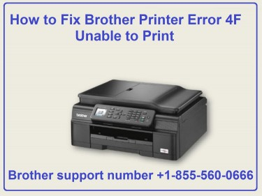How To Fix Brother Printer Error 4F