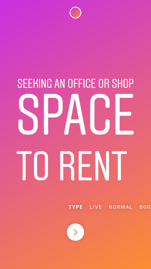 Seeking A Office Or Shop Space