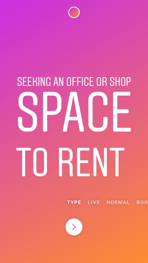 Seeking An Office Or Shop Space