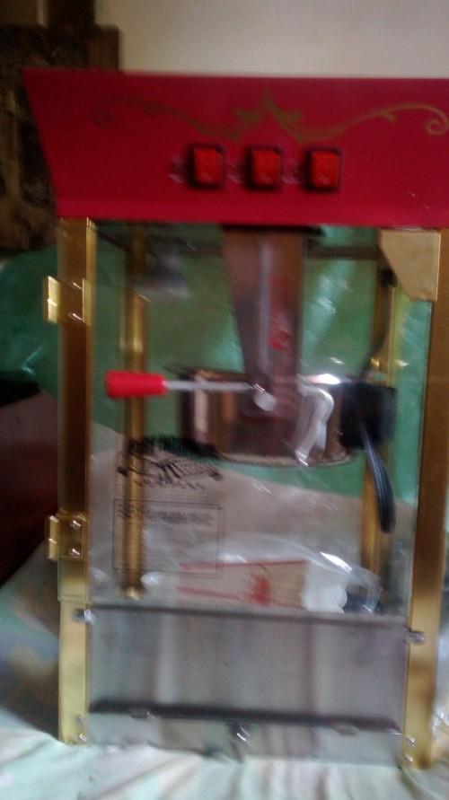 Popcorn Machine, Snow Cone Machine, Display Fridge