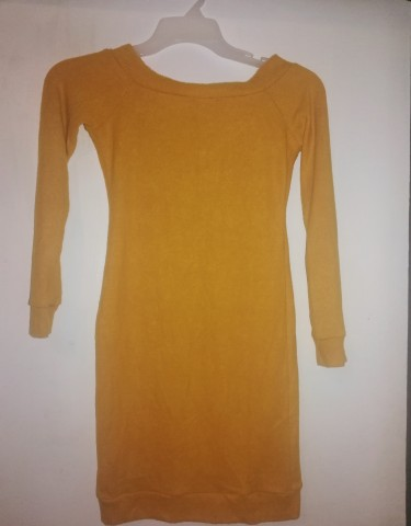 Brand New Off The Shoulder Small Mustard Dress