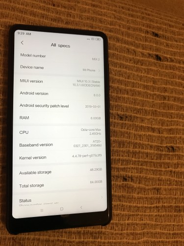 Xiaomi Mi Mix 2 6gb Ram Unlocked Dual Sim