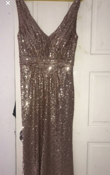 NEW SEQUIN ROSE GOLD GOWN
