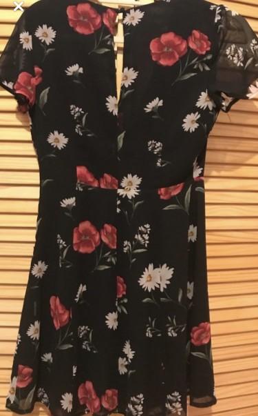 LITTLE BLACK FLORAL DRESS
