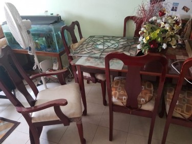 6-seater Dining Table Set (used)