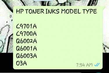 HP TONER INKS