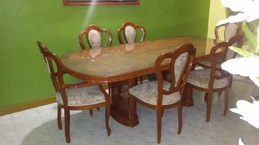Seven (7) Piece Dining Setting (One Table – Six Ch