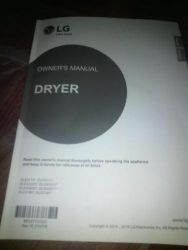 LG Dryer For Sale