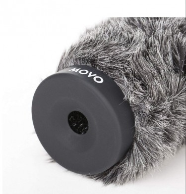 Movo Furry Rigid Windscreen For Microphone 4.7in