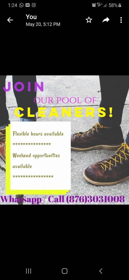 Cleaners Needed 30k Monthly