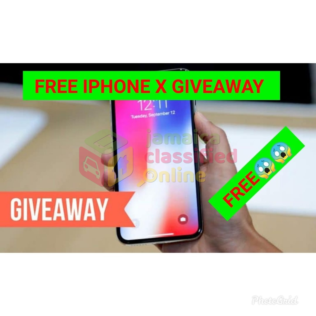 FREE IPHONE X GIVEAWAY   FREE !!!! for sale in Half Way Tree
