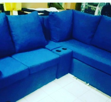 CUSTOM BUILD YOUR OWN BEAUTIFUL BLUE SECTIONAL