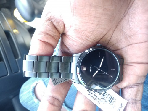 Fossil Gunmetal Watch