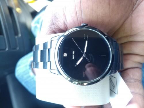 Gunmetal Black Fossil Watch