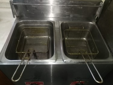 2Burner GasTable Top Deep Fryer