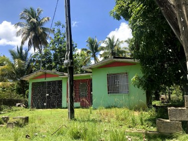 Half Acre Of Land With 2 Bedroom House