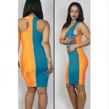 Sexy Unique 2 Tone Dress
