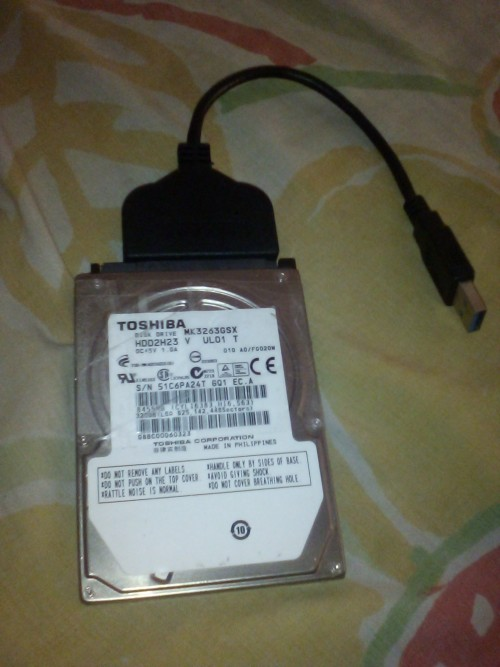 Toshiba Hard Drive For Sale 320gb Working Wide Usb