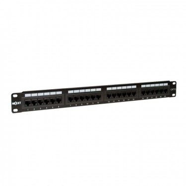 Cat6 Rackmount Patch Panel - 24 Ports