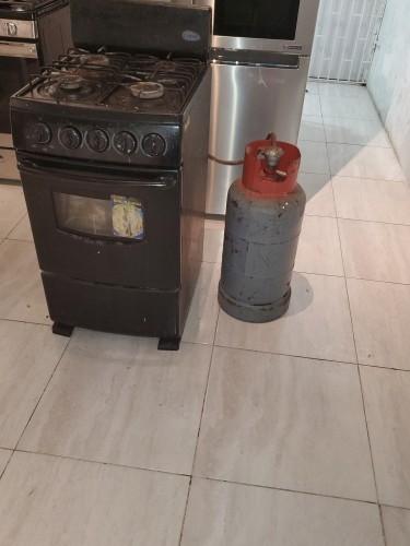 Fridge,4 Burner Stove And Cylinder Combo