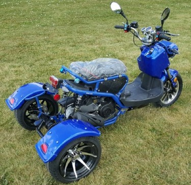 For Sale 50cc Trike Mean Dogg II Scooter Gas Moped