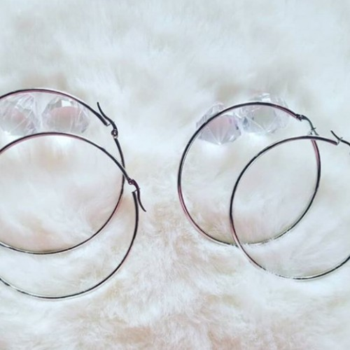 Stainless Steel Hoops And Statement  Earrings