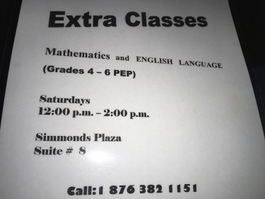 Maths And English P.E.P. Classes In Ocho Rios. Schools Ocho Rios