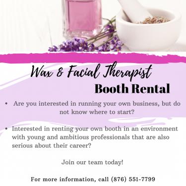Space Rental- Wax & Facial Therapist